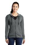 SanMar Sport-Tek LST293, Sport-Tek ® Ladies PosiCharge ® Tri-Blend Wicking Fleece Full-Zip Hooded Jacket