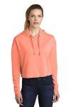SanMar Sport-Tek LST298, Sport-Tek ® Ladies PosiCharge ® Tri-Blend Wicking Fleece Crop Hooded Pullover