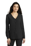 SanMar Port Authority LW700, Port Authority® Ladies Long Sleeve Button-Front Blouse.
