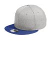 SanMar New Era NE408, New Era ® Shadow Heather Striped Flat Bill Snapback Cap