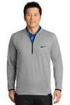SanMar Nike NKAH6267, Nike Therma-FIT Textured Fleece 1/2-Zip.