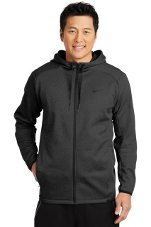 SanMar Nike NKAH6268, Nike Therma-FIT Textured Fleece Full-Zip Hoodie.