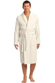 SanMar Port Authority R103, Port Authority® Checkered Terry Shawl Collar Robe.