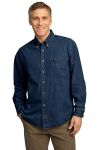 SanMar Port & Company SP10, Port & Company® - Long Sleeve Value Denim Shirt.