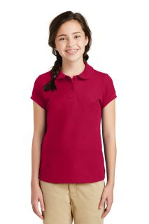 SanMar Port Authority YG503, Port Authority® Girls Silk Touch Peter Pan Collar Polo.
