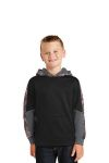 SanMar Sport-Tek YST231, Sport-Tek® Youth Sport-Wick® Mineral Freeze Fleece Colorblock Hooded Pullover.